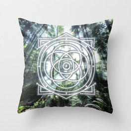 Sacred Geometry Forest Throw Pillow