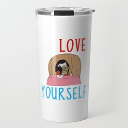 Learning To Love Yourself Self Confidence Self Improvement Travel Mug