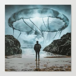 Jellyfish in the Sky by GEN Z Canvas Print