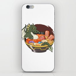Tabletop Dungeons Gift Dragon And Dice In Ramen RPG Print iPhone Skin