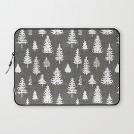 Pine Forest on Dark Linen Laptop Sleeve