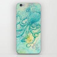 kraken iPhone & iPod Skins featuring Kraken by pakowacz