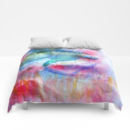 Iridescent Abstract Betta Comforters