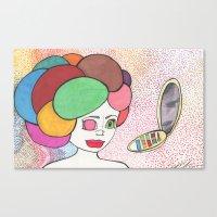 makeup Canvas Prints featuring Makeup by Sarah Kay Napier