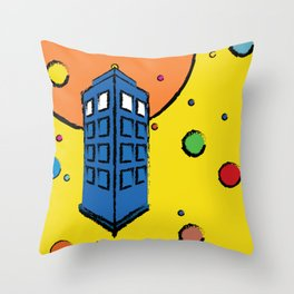 Pop Art Tardis Throw Pillow