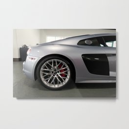 Grey & Carbon Metal Print