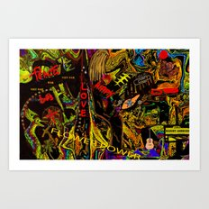 Flower Power and The Hippies, Art Print