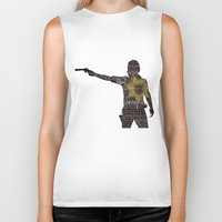 rick grimes Biker Tanks featuring Rick Grimes with Quotes by rlc82