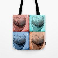 globe Tote Bags featuring Globe by Aloke Design