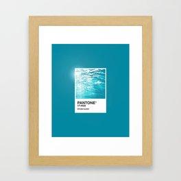 Pantone Series – Underwater Framed Art Print