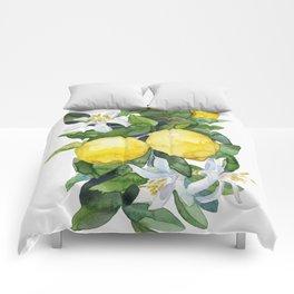 lemon tee Comforters