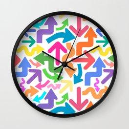 Arrow color Wall Clock