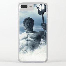 Poseidon - God of Sea Rising Clear iPhone Case