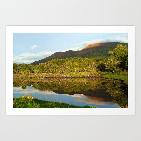 Reflections on Loch Etive Art Print