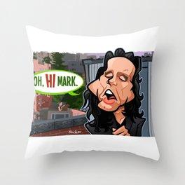 Oh Hi Mark Throw Pillow