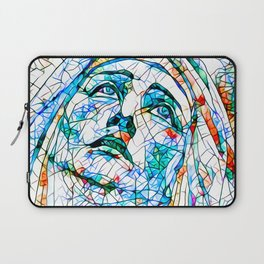 Glass stain mosaic 8 - Madonna, by Brian Vegas Laptop Sleeve