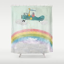 creating rainbows Shower Curtain