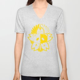 Panda Paw Paw T-Shirt Logo (Yellow) Unisex V-Neck