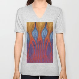 Walking On A Violet Unisex V-Neck