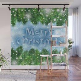 Christmas card Wall Mural