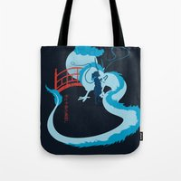 spirited away Tote Bags featuring Spirited by IlonaHibernis