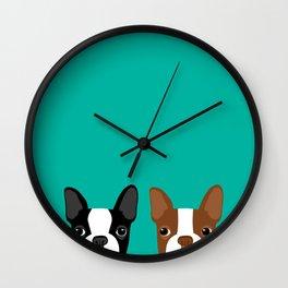 Boston Terriers Wall Clock