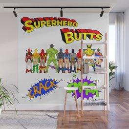 Superhero Butts Crack Smack Wall Mural