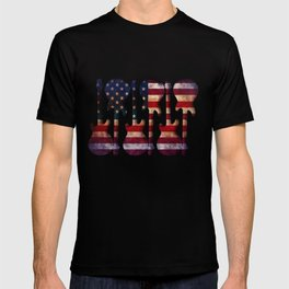 American Flag Guitar Art T-shirt