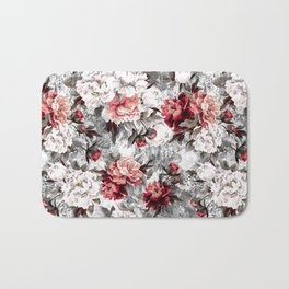 Watercolor Roses Bath Mat