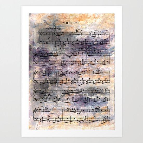 Chopin - Nocturne Art Print