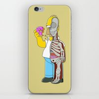 homer iPhone & iPod Skins featuring Homer  Anatomy by Damian