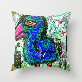 city burd. Throw Pillow