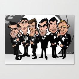 Faces of Bond Canvas Print