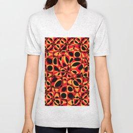orange red circle pattern Unisex V-Neck