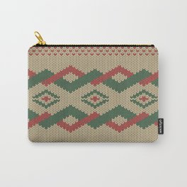 Knitty (Knitted Yellow Zigzag Ornament) Carry-All Pouch