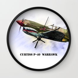 Curtiss P-40 Warhawk Wall Clock