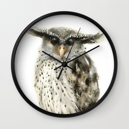 Forest Eagle Owl Wall Clock