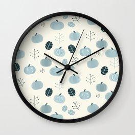 Pumpkins Blues Wall Clock