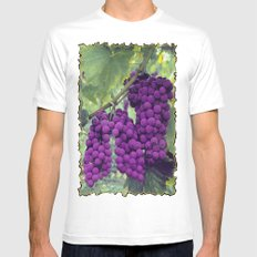 Grapes Mens Fitted Tee MEDIUM White