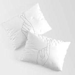 Fingers Crossed Pillow Sham