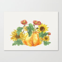 Morning Pumpkins Canvas Print