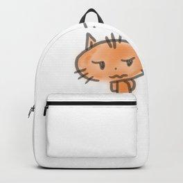 minimal cat Backpack