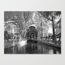 La Fontaine de Medicis Canvas Print