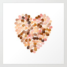 Love and peace for everyone Art Print