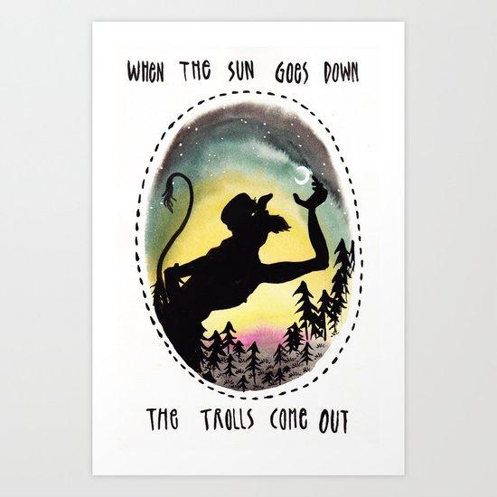 Trolls Art Print