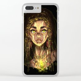 Fireflies Clear iPhone Case
