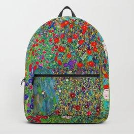 Gustav Klimt - Farm Garden with Sunflowers - Digital Remastered Edition Backpack