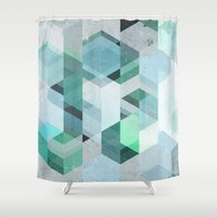nordic Shower Curtains featuring Nordic Combination 22 by Mareike Böhmer