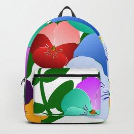 colorful pansies, violets, pansy, viola Backpack