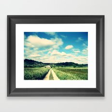 a beautiful day Framed Art Print